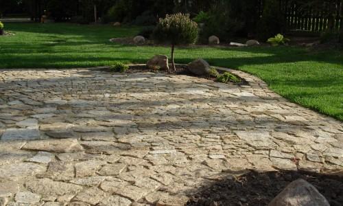 taras z kamienia
